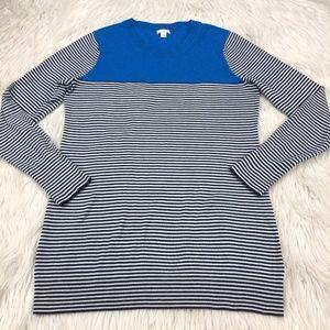 🐝 Gap Pull Over Crew Color Block Neck Sweater